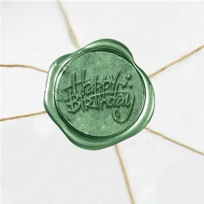 Happy Birthday Wax Seal Stickers-50PK- 1""