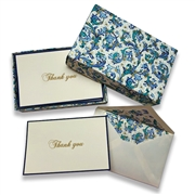 Thank You Card Set Boxed 3 x 5 - Classica Blue