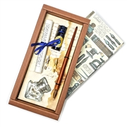 Calligraphy Dip Pen Set with Glass Inkwell, Ink and Nibs