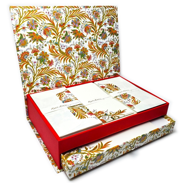 Luxe Italian Stationery Set in Keepsake Desktop Box - Cyprus