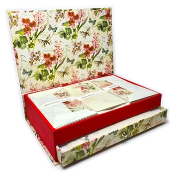 Luxe Italian Stationery Set in Keepsake Desktop Box - Romantica
