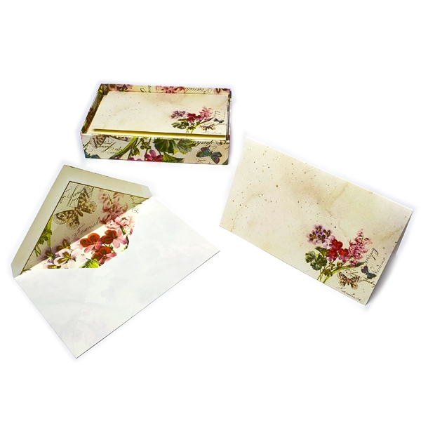 Italian Fold-over Boxed Card Set 10/10 - Romantica