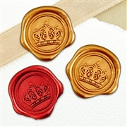 "Adhesive Wax Seal Stickers 25PK - 1"" Crown"