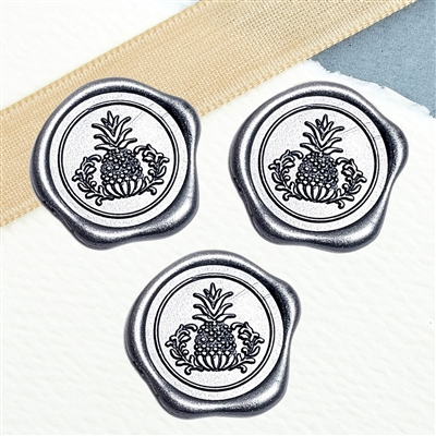 "Adhesive Wax Seal Stickers 25PK - 1"" Pineapple"